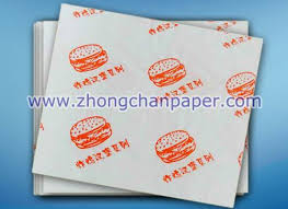 burger wrapping paper burger wrapping paper food wrapping paper shandong zhongchan paper