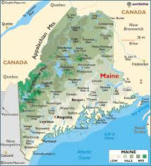 maine map with cities map of maine large color map