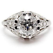 te6426i art deco antique engagement ring old euro diamond