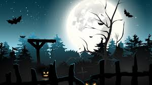 halloween background moon download wallpaper scary horror midnight graveyard creepy