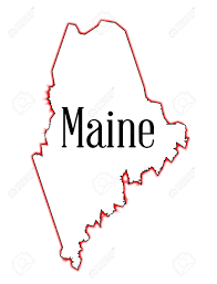 Maine State Map by Outline Map Of The State Of Maine Over White Royalty Free Cliparts