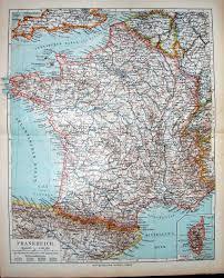 Corsica Map 14 Print Meyers German Atlas 1900 Map France Corsica Frankreich