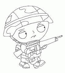 family guy coloring pages stewie army coloringstar