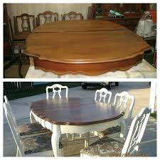 how to refinish a wood table refurbished dining room table developerpanda