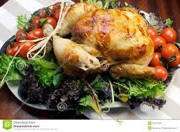 Thanksgiving Greens Christmas Or Thanksgiving Roast Chicken Turkey Dinner Royalty Free