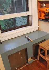 Window Seat Bench - our diy kitchen window seat u0026 radiator cover stately kitsch