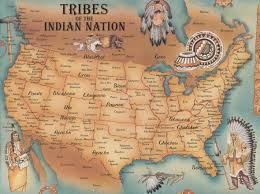 A Map Of United States by Tribes A To Z Index