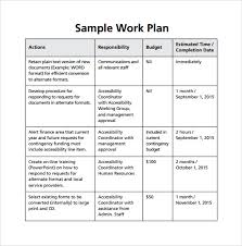 Project Work Plan Template Excel Work Plan Exle Of Work Plan Template Work Plan Template 12