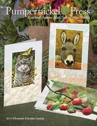 pumpernickel press wildlife cards pumpernickel everyday catalog 2013 by sweetgrass sales marketing