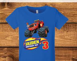 monster truck shirt birthday tee organic blend boys birthday
