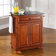 shop crosley furniture brown craftsman kitchen island at lowes com