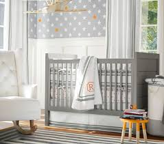 Gray And Yellow Crib Bedding Harper Baby Bedding Pottery Barn Kids