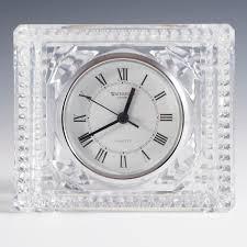 lot 48 vintage waterford crystal desk clock