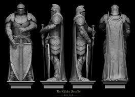 breton statue for the elder scrolls online ioannis karathomas on