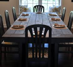 dining room nice design distressed white dining table impressive