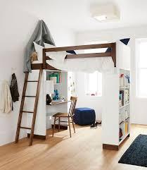 white loft bed with desk castero
