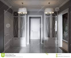 elegant modern classic provence and luxurious hall interior stock