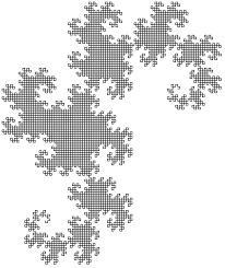 fractals you can draw the dragon curve or the jurassic fractal