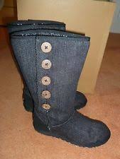 womens ugg lo pro boot black ugg australia s denim boots ebay