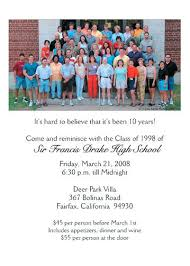 50th high school class reunion invitation high school reunion invitations niengrangho info