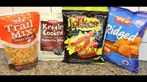 h e b texas heat trail mix mesquite bbq chips lokitos hijole