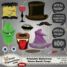 diy printable halloween photo booth props comes with witch hat