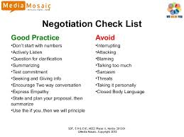 Seeking Negotiation Negotiation