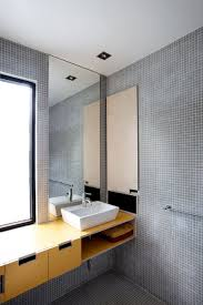 architecture unique bathroom design interior with mosaic grey