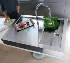 sinks faucets unique kitchen design brown wooden kitchen island full size of minimalist design kitchen with stainless steel kitchen sink chrome finish spray faucet modern