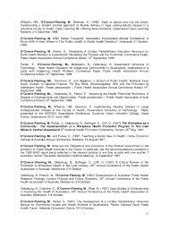 Public Health Resume Sample by Mary Louise Fleming Ph D Cv