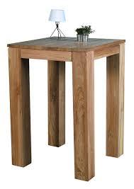meubles en teck massif table mange debout teck 70x70x100cm rio pier import