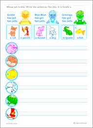 possessive nouns grammar worksheets for kids learning english