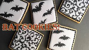 Decorated Halloween Sugar Cookies by How To Decorate Bat Cookies With Royal Icing Youtube