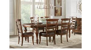 7 pc dining room set notting hill cherry 7 pc dining room rectangle traditional