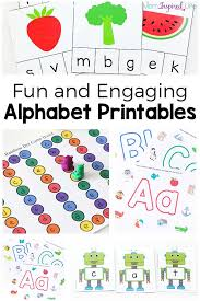 alphabet printables for hands on learning