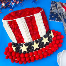 4th of july fruit pizza decorate like uncle sam u0027s hat