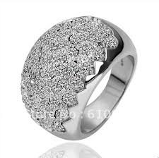 diamond prices rings images Hot sale 18k white gold ring white diamond rings factory price do jpg