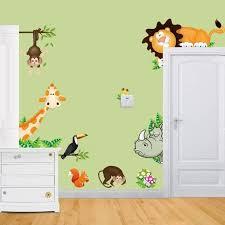 stickers jungle chambre bébé stickers jungle chambre bb amazing stickers muraux animaux pour
