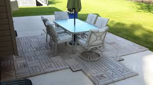 Covering Old Concrete Patio by Concrete Patio Ideas For Your Backyard Comforthouse Pro