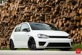 white volkswagen golf white vw golf r receives black custom parts u2014 carid com gallery
