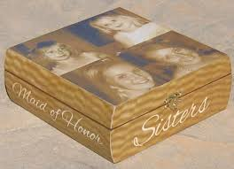 personalized photo collage keepsake box sister gift maid of