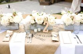 wedding table settings table centerpieces with burlap table setting with burlap wedding