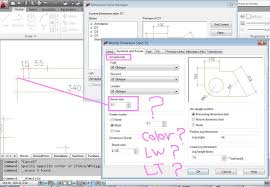 solved setting a lineweight for the dimension objects autodesk