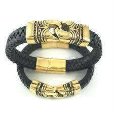 woven link bracelet images Gold tribal link leather bracelet nonesuchcreations jpg