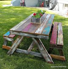 Ideas For Painting Garden Furniture by Best 25 Picnic Tables Ideas On Pinterest Diy Picnic Table