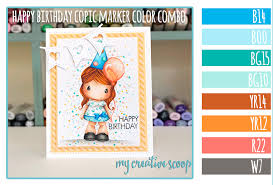 color combo happy birthday copic marker color combo my creative scoop