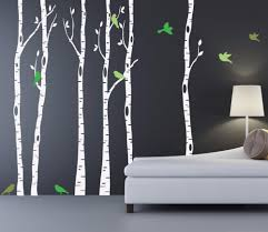 compare prices on birch trees leaves online shopping buy low birch trees wall decal with bird and leaves huge tree forest wall stickers decor home living