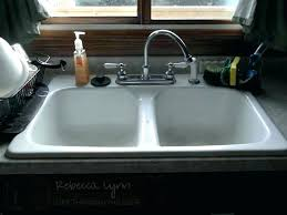 How To Clean White Porcelain Kitchen Sink White Porcelain Kitchen Sink American Standard Undermount S