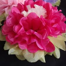 hot pink tissue paper 14 multi color tissue paper flower decorations fuchsia hot