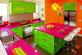 kitchen kitchen design ideas in colorful theme with colorful